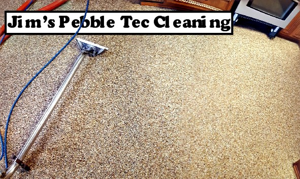 Pebble tec floor cleaning